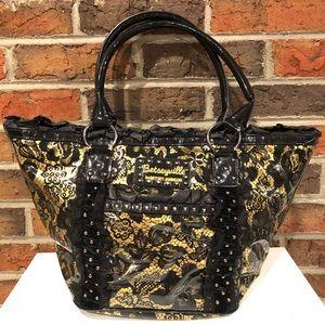 Betseyville by Betsey Johnson Black & Gold Bag